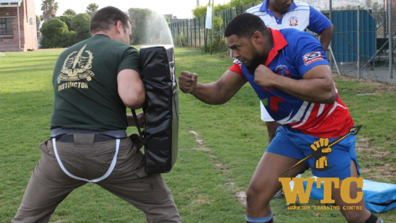 Claudio Chiste training Saldanha Rugby team