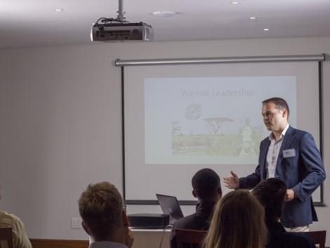 Claudio presenting at PMI event