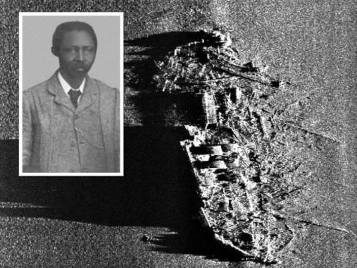 SS Mendi today - aeria view and Rev Isaac Williams Wauchope Dyobha